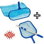 HOT Swimming Pool Skimmer Net Deep Bags with Telescopic Pole for Cleaning Pools