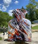 Blenko Glass Water Bottle Purple Red Pink White Frit Limited Edition 384