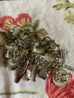 VINTAGE STERLING SILVER CHARM BRACELET NATIVE AMERICAN PACIFIC NW SEATTLE ARTS
