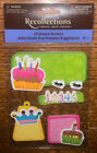 Recollections Birthday Journaling Tags Candles Princess Crown Scrapbook Stickers