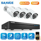 SANNCE Audio CCTV IP Camera 8CH FHD 5MP DVR Home Security POE System IR Night US