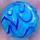 Hot House Glass flame twist Dichroic banded swirl marble 168 43m 629