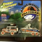 JOHNNY LIGHTNING 1980 TOYOTA LAND CRUISER BOAT TRAILER 1 64 AMAZONIAN 7164 CHASE