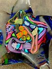 D Sweet Coral Reef Anemone Starfish Millefiori Dichroic Glass Paperweight Signed