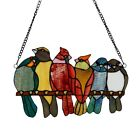Stained Glass Love Birds Window Panel Handcrafted Tiffany Style ONE THIS PRICE