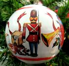 1983 Satin Ball Ornament Let The Happy Sounds of Christmas Echo in Your Heart