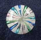 VINTAGE MURANO TWISTED RIBBON CANE PAPERWEIGHT ITALY