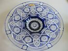 Case Crystal Color cut to clear14 Blue Platter German Crystal 24 Lead