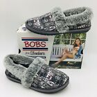 Skechers Womens BOBS Too Cozy Chic Cat Slipper Size 65 Grey