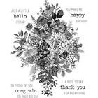 Tim Holtz Cling Rubber Stamps Glorious Bouquet with Grid Block CMS325