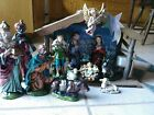 Vintage Sears Musical Nativity Set Creche Japan 14 Pc Paper Mache 1960s 1970s