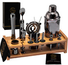 Soing 24 Piece Cocktail Shaker Set Perfect Home Bartending Kit for Drink Mixin