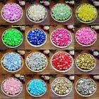 Wholesale 4 6 8mm Half Round Pearl Bead Flat Back Scrapbook for Craft 21Colors