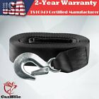 2 x 20 10000 lb Snatch Strap Recovery Tow Strap Winch Extension 4WD Heavy Duty