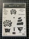 Stampin Up BEAUTY  JOY Rubber Stamps Scrapbook Retired Topiary Holiday Retire
