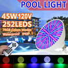 12V 45W 35W RGB LED Bulb Swimming Pool Spa Light for Pentair Hayward +Remote