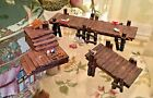 Lemax Carole Towne Collection Wooden Docks Set of 3 Village Accessories