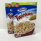 2 Boxes NEW POST HOSTESS TWINKIES CEREAL 12 OZ BOXES Best By 8/25/20 FAST Ship!!