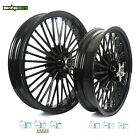 Black 21x35 18x35 Front Rear Wheels Rim For Harley Softail Touring Dyna