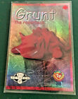 TY BEANIE BABIES CARD S1 RETIRED SILVER GRUNT CDN VERSION, HARD TO FIND!
