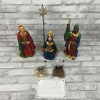 Three Kings Gifts 3 Wise Men Star Figures Real Life Nativity Complete Set