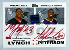 ADRIAN PETERSON CALVIN JOHNSON LYNCH RC 2007 TOPPS SIGNED AUTOGRAPH ROOKIE AUTO