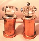 Copper Pepper Grinder and Salt Shaker Clear Plastic Great Condition