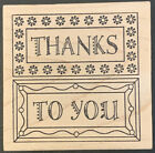 Outlines Rubber Stamp Thanks To You