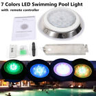 Underwater LED Swimming Pool Light 54W RGB Stainless Steel Pool Spa Lamp IP68 US