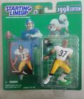 1998 CARNELL LAKE PITTSBURGH STEELERS NFL ROOKIE FIGURE STARTING LINEUP! a79