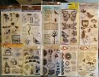 Clear Stamps collection Halloween Butterflys Owls MIX Lot OF 52 Use  NEW
