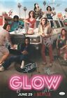 Alison Brie Betty Gilpin +10 Hand Signed 12x18 Glow Authentic Autograph JSA LOA