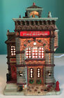 Lemax Union Fire Station Lighted Building Caddington Village Very Rare, Retired