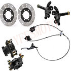 Front Steering Knuckle Spindle+Wheel Hub +Brake Assembly+Disc Rotor 125cc 250cc