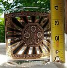 Georges Briard ART DECO Rock's Tumbler 22k Gold Heavy Bottom Glass Mid Century