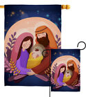 Nativity Night Garden Flag Winter Small Decorative Gift Yard House Banner