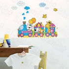 Animal Train Wall Decals Stickers Appliques Home Decor