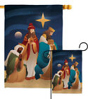 Three King Garden Flag Winter Nativity Small Decorative Gift Yard House Banner