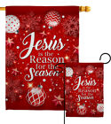 Jesus is the Reason Garden Flag Winter Nativity Decorative Yard House Banner
