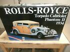 POCHER 1/8 SCALE ROLLS ROYCE TORPEDO CABRIOLET PHANTON  II 1934 FACTORY SEALED