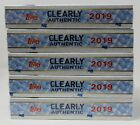 2019 Topps Clearly Authentic 5 Box Lot Factory Sealed Baseball