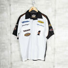 Harley Davidson FAT BOY Mechanic Patched BUTTON UP T Shirt Multicolor Size S