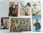 7 x Vintage Knitting Patterns Men With Guns Cigarettes Masculine Style Covers