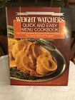 Weight Watchers Quick and Easy Menu Cookbook  Over 250 Seasonal Recipes