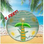 MEMBERS MARK INFLATABLE BEACH BALL 5 FT TALL PALM TREE POOL PARTY OCEAN FUN