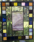 Stained Glass Window Panel With Art Glass  Bevels