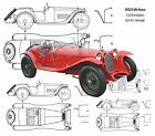Auto Drawings Scale 1/12 1/16 1/24 1/32 & 1932/33 Alfa Romeo 2.3/2.9 Litreon CD