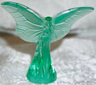 Lalique Art Glass Green Butterfly Rosee Pattern Signed  Mint Condition