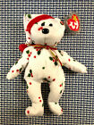 RARE 1998 Holiday Teddy Beanie Baby Bear with Tag Errors - FREE SHIPPING