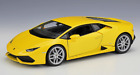 Welly 124 Lamborghini Huracan LP610 4 Diecast Model Racing Car Toy Yellow Boxed